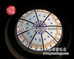 上海|圓博彩色彩繪玻璃穹頂設計