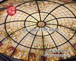 上海|圆博工艺彩色beplay官方授权穹顶彩绘beplay官方授权穹顶专业厂家