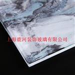上海 夾山水畫玻璃