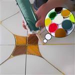 供应环氧彩砂美缝剂填缝剂原材料200目烧结彩色玻璃微珠水性