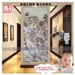 南宁|厂家生产雕刻钢化艺术玻璃电视背景墙可用作玄关隔断