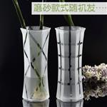 漸變色玻璃花瓶歐式插花瓶桌面裝飾富貴竹玻璃花瓶
