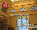 上海|别墅彩色玻璃花窗,别墅彩色镶嵌玻璃【圆博工艺】