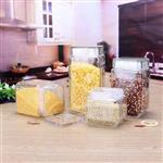 徐州|方形玻璃儲物罐批發透明玻璃茶葉罐糖果罐多種規格儲物罐密封罐
