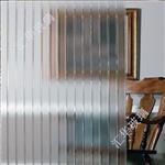 邢臺|四季紅壓花玻璃 條紋玻璃 隔斷玻璃 屏風玻璃