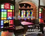 彩色玻璃門窗老上海海派彩色玻璃彩色鑲嵌玻璃