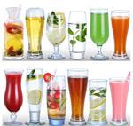果汁杯玻璃杯玻璃飲品杯網紅奶茶杯奶昔杯家用創意飲料杯冰沙杯冷飲杯冰淇淋杯子