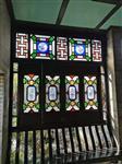佛山廠家直銷嶺南特色園林酒樓裝飾仿古彩色玻璃隔斷屏風