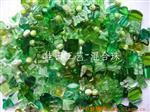 绿色混合压件珠玻璃珠