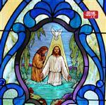 彩色镶嵌教堂玻璃