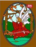 教堂玻璃彩绘镶嵌玻璃圆博工艺专业定制