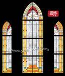传统技艺教堂玻璃彩绘玻璃圆博彩绘玻璃