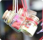 玻璃吊坠瓶木塞玻璃瓶玻璃工艺制品