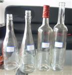酒瓶玻璃酒瓶蒙砂烤花瓶身工艺出口玻璃酒瓶