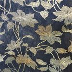 TJ-017黑底金陶瓷花玻璃夹层材料