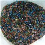 混合彩条玻璃珠子