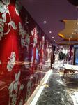 广州烤漆聚晶玻璃订做烤漆玻璃形象墙安装订做