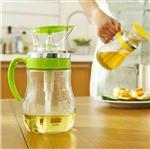 定量玻璃油壶防漏油壶酱油瓶醋瓶油瓶厨房用品油罐带刻度