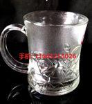 批发带把加厚高透明玻璃杯啤酒杯