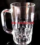 苹果饮料果汁杯带把透明玻璃啤酒杯