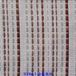 ST64-1 金银条纹夹丝布