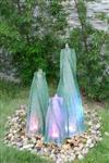 景观叠层流水玻璃柱