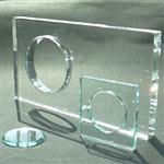 上海供应异形打孔开槽钢化玻璃