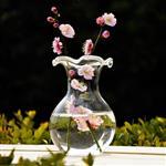 荷叶口收颈花瓶