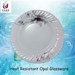 乳白色钢化玻璃盘