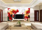 3d电视背景墙,安全彩釉玻璃