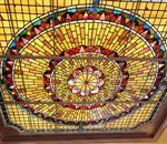 教堂彩绘玻璃天窗.陶瓷打印玻璃.高温UV打印