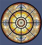 彩绘穹顶玻璃;