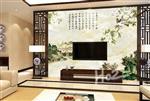 花鸟芙蓉背景墙春色杜鹃背景墙中式背景墙
