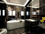 卫浴装饰黑玻璃