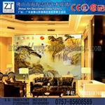 志涛玻璃供应雕刻电视机背景墙