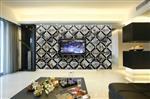 JH-1522 电视背景墙玻璃拼镜厂家