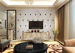 JH-1558 香槟色客厅电视背景墙玻璃拼镜