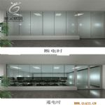 Switchable glass partition meeting room