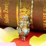 银箔合金半包精油瓶项链