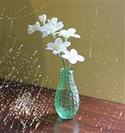 喷色玻璃瓶插花瓶