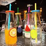 果汁瓶玻璃瓶吸管瓶