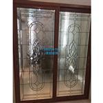 新款木门中空门镶嵌玻璃