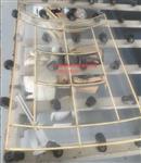 热弯弧度铜条镶嵌玻璃