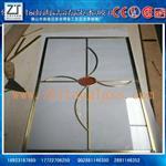 单片铜条镶嵌玻璃厂家