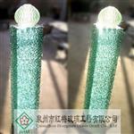 叠纹玻璃柱叠层玻璃柱酒店装饰工程装饰