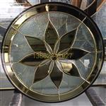 高品质铜条镶嵌工艺圆窗玻璃
