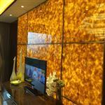 玉石玻璃背景墙