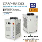 S&A air cooled water chiller for resista