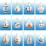 山东高档烤瓷白色玻璃酒瓶