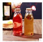 北京天津奶茶瓶冷饮店饮料瓶350毫升木塞果汁瓶